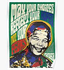 Póster Nelson Mandela Psichedelic Pop Art