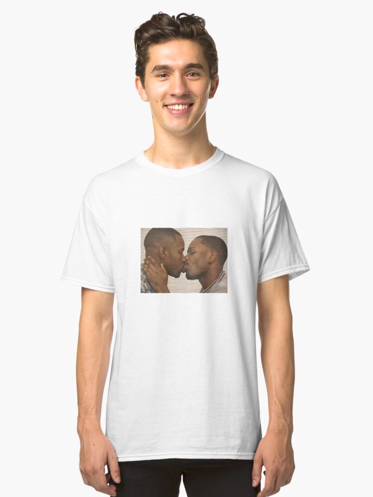 Two black guys kissing