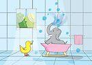 Elephant Bath Time by Shannon McLean