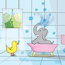 Elephant Bath Time by Shannon Kennedy