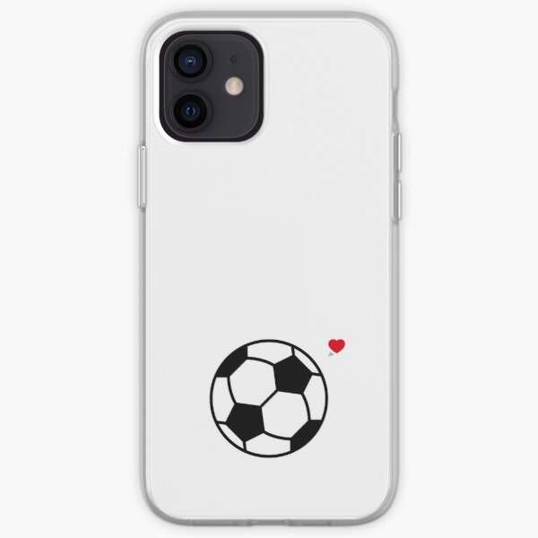Amour de football (amour de football) Coque souple iPhone