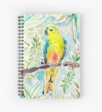 Cutie the Orange-bellied Parrot by Barbra Ignatiev Spiral Notebook