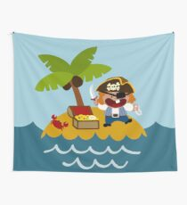 Happy Pirate Wall Tapestry