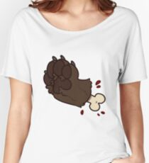 Chocolate Labrador Retreiver Paw Gore Women's Relaxed Fit T-Shirt