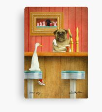 Will Bullas art print / brew pug Canvas Print