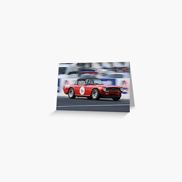 Red TR6 Greeting Card