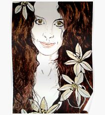 Hippy Chick - Etching Poster