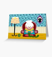 Knitter Greeting Card