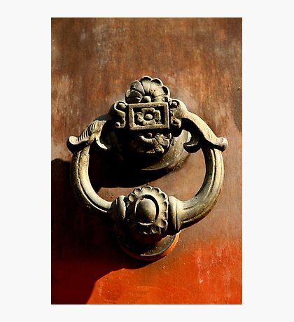 Italian Door Handle Photographic Print