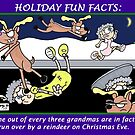 Holiday Fun Facts: Grandmas and Reindeer by JonsCrazyShirts