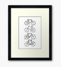 4 Bicycles Framed Print