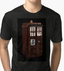 Time And Relative Dimensions In Chocolate Tri-blend T-Shirt