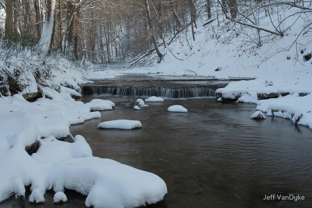 Rocky Run Creek - Winter by Jeff VanDyke