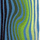 Green Zebra Three by Betty Mackey