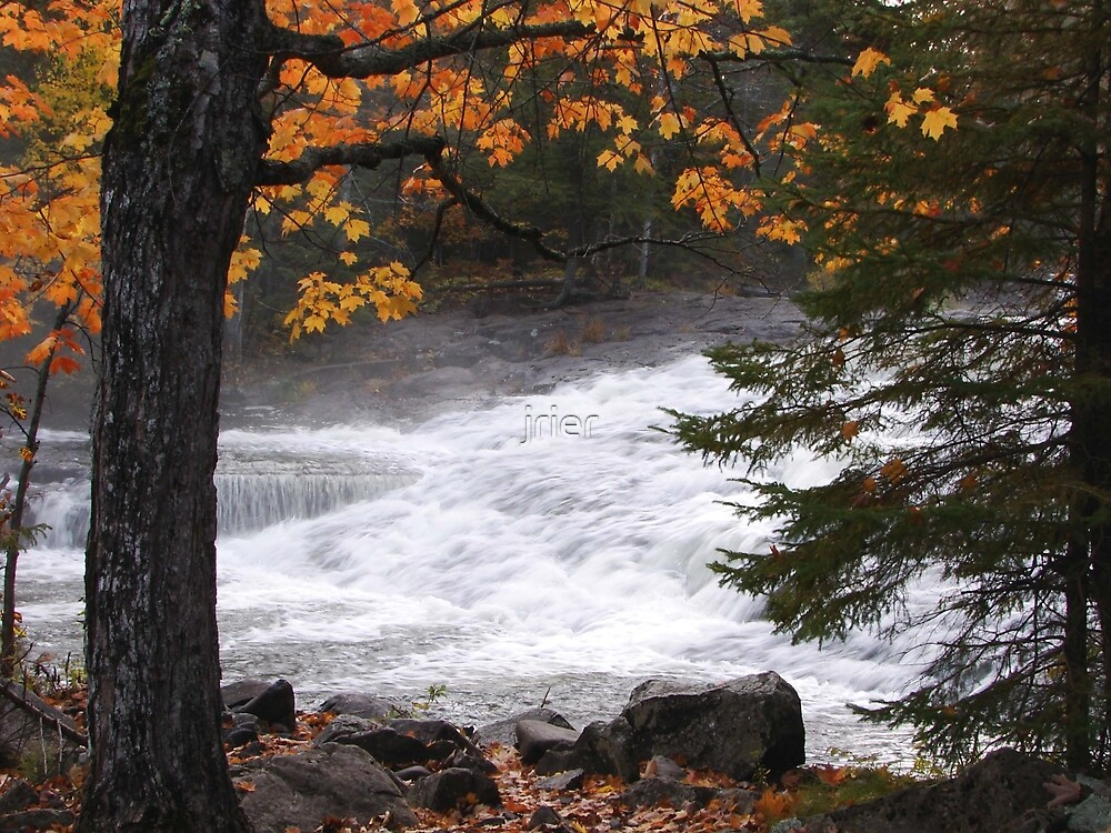 Bond Falls in Autumn by jrier