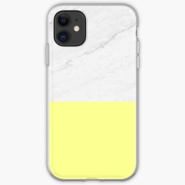 Marble And Yellow iPhone Soft Case