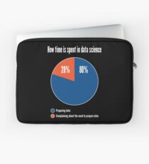 How Time is Spent in Data Science - Funny Pie Chart Design Laptop Sleeve