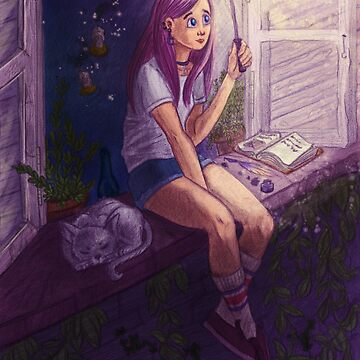 windowsill witch by lacacamola