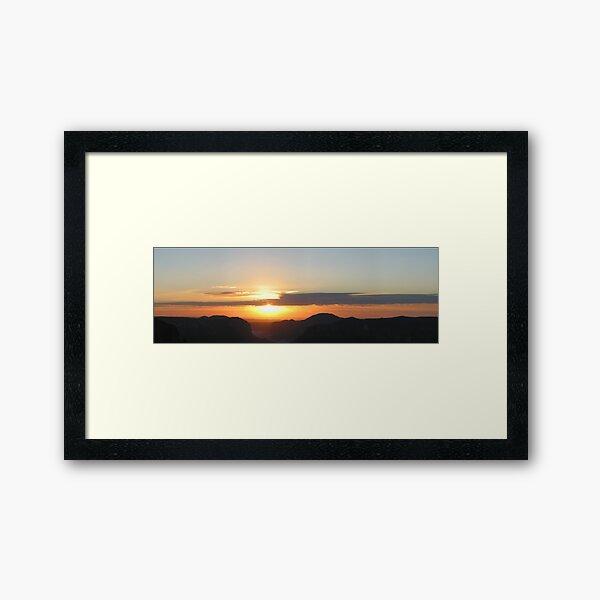 Sunrise at Govett's Leap Framed Art Print