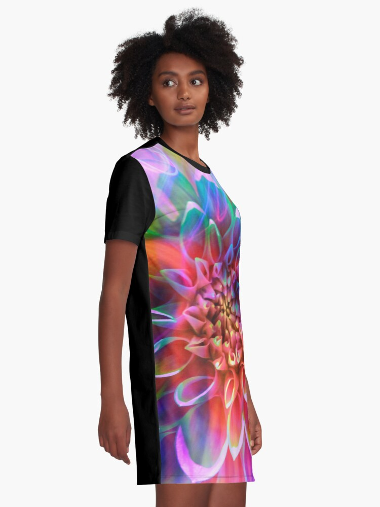 """Alternate view of """"Crosshairs of a Perpetual Doppler Shift"""" Graphic T-Shirt Dress"""