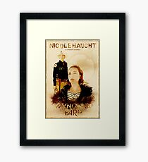 Wynonna Earp - Western Style Cast Poster #8 (Nicole Haught Special) Framed Print