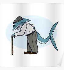 Inktober: Crooked + Shark Poster