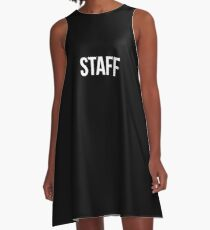 Staff Black A-Line Dress