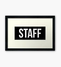 Staff Black Framed Print
