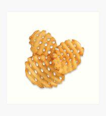 waffle fries Art Print