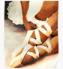 Afroamerikaner-Ballerina En Pointe Poster