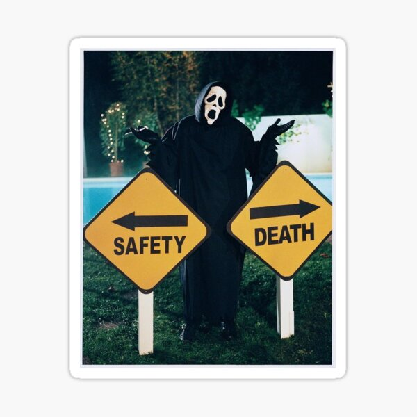 Safety or Death? You Choose Sticker