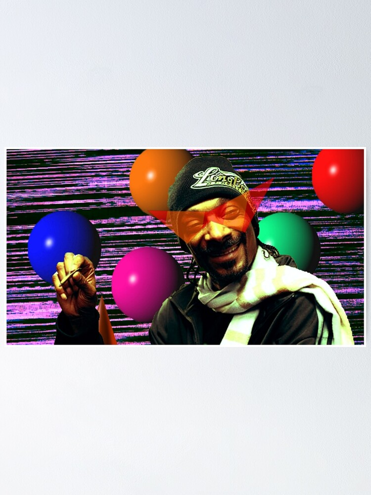 Vaporwave Aesthetic Snoop Dogg Poster By Pkbrendan Redbubble