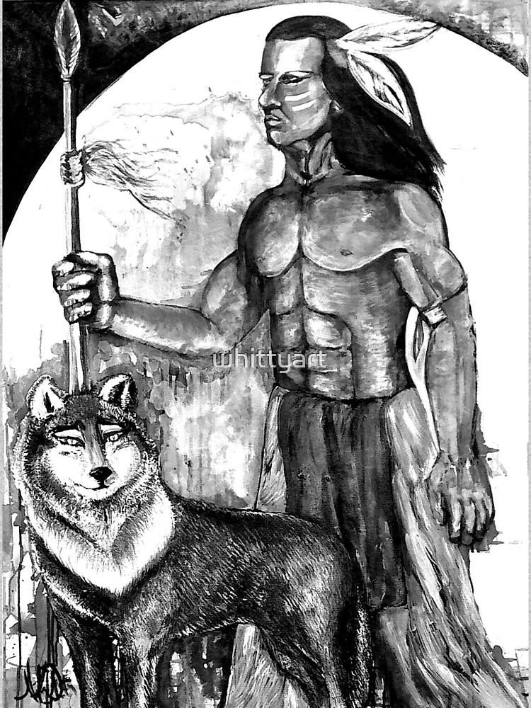 Indian Wolf by whittyart