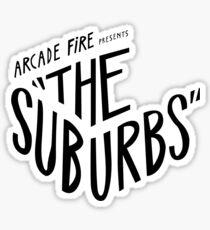Arcade fire suburbs logo Sticker