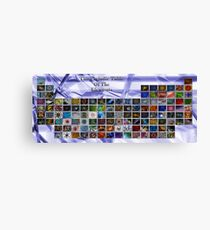 Periodic Table Canvas Print