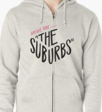 Arcade fire The suburbs logo Zipped Hoodie