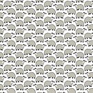 Cute European Badger - repeat pattern by zoel
