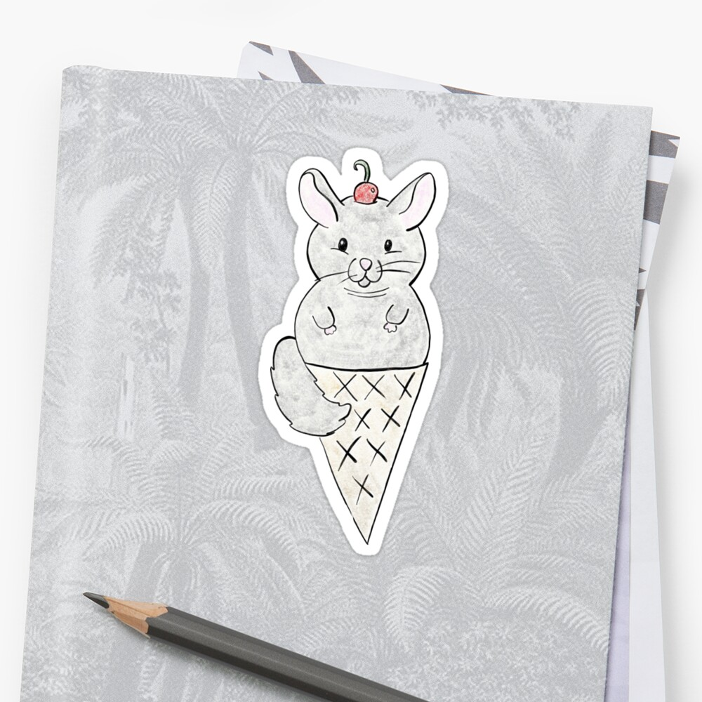 Chinchilla Ice Cream by ButteredDoodles