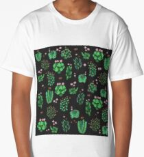 Green Nature at night Long T-Shirt
