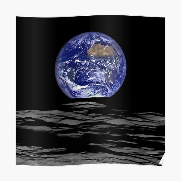 Earthrise, Lunar Earth rise on the Moon Poster