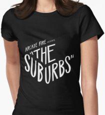 Arcade fire The Suburbs logo Women's Fitted T-Shirt