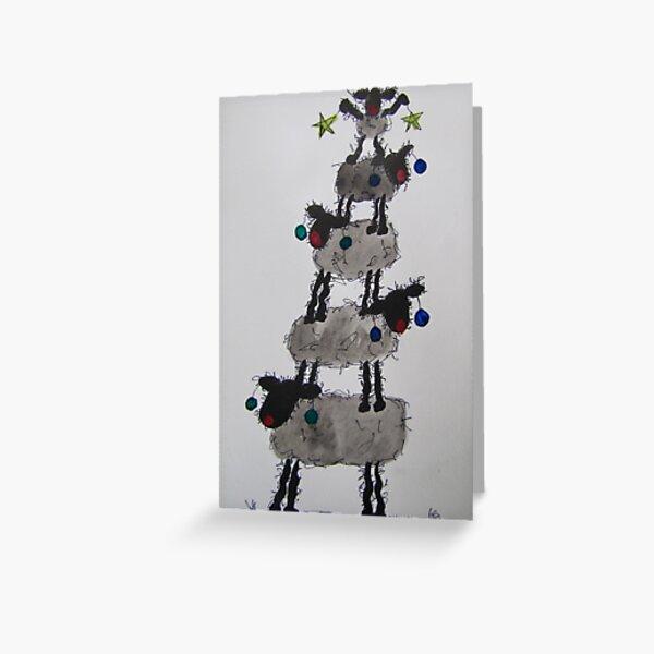 Ewe Beaut Christmas Tree Greeting Card