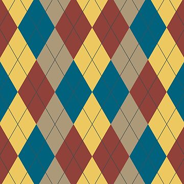 Argyle - Green, Red, Yellow, Brown by keltickat