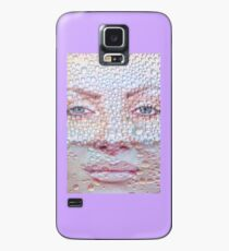 Pretty girl face against transparent water drips as background. Case/Skin for Samsung Galaxy