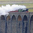 Flying Scotsman At The Ribblehead Viaduct by Colin  Williams Photography