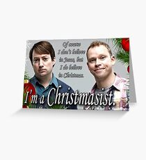 Merry Christmas - Peep show Greeting Card