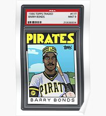 Barry Bonds Rookie Card Poster