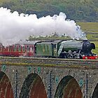 Flying Scotsman At The Ribblehead Viaduct 2 by Colin  Williams Photography