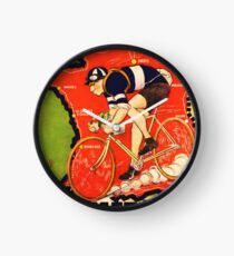 Vintage French bicycle race advert Clock