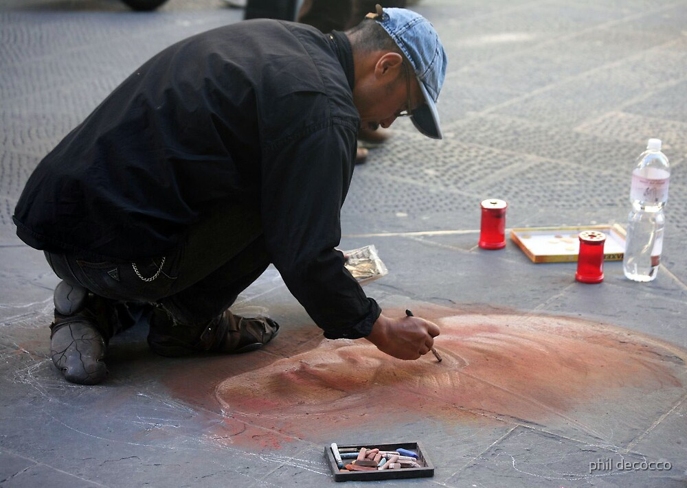 Sidewalk Artist by phil decocco